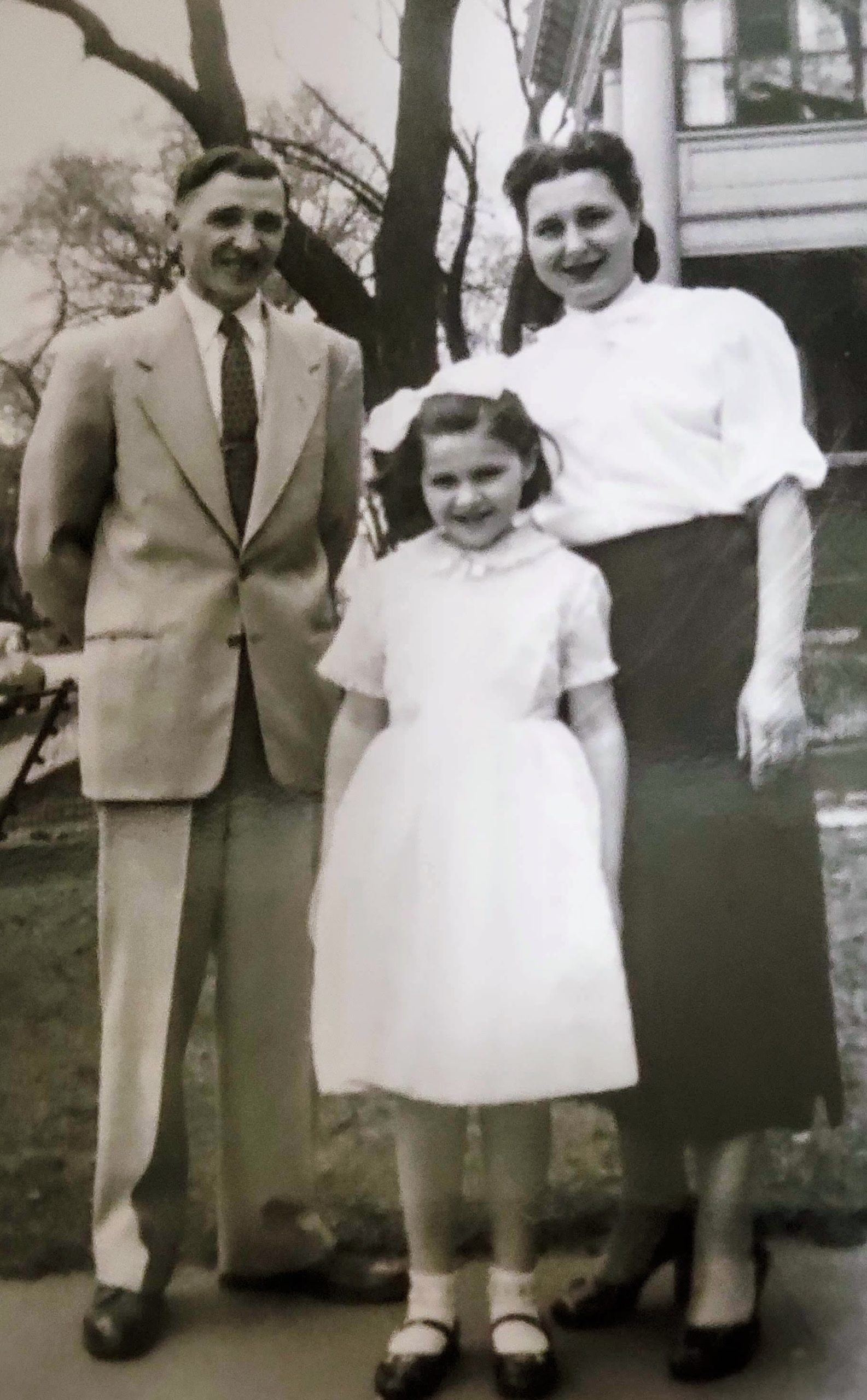1953, Minneapolis: My grandfather Youry, my mother Lesya and my grandmother Maria