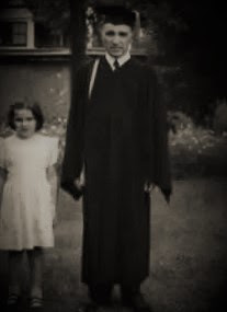 1954, Master's Degree graduation ceremony (my mother is the child pictured here)